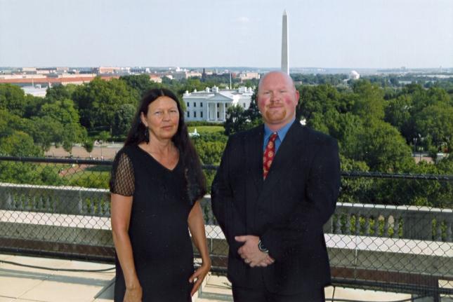 David Powers w Mom_Teresa Powers_White House