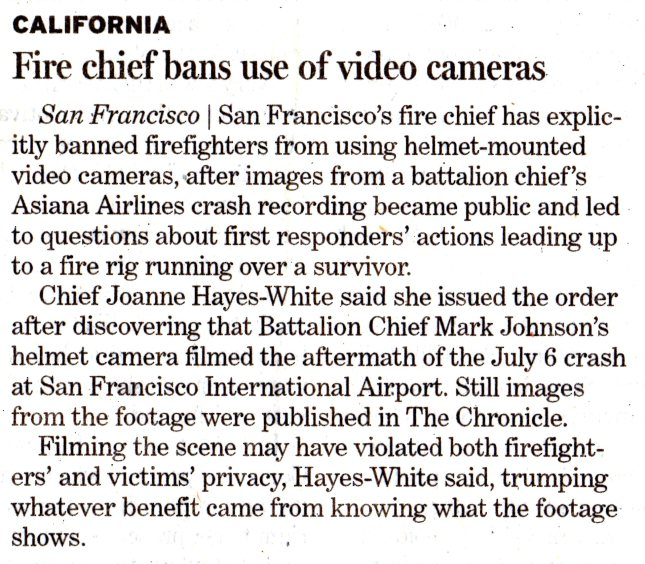LA Fire Chief Bans Cameras001